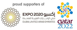 Proud supporters of Dubai Expo 2020 & Qatar 2022