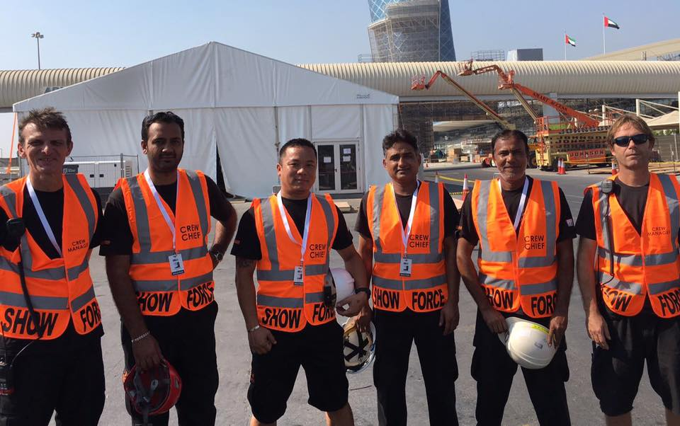 Showforce provide specialist crew to Balich Worldwide Shows for UAE 45th National Day celebratory performance